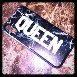 iPhone X Black Marble Look QUEEN Bumper Case